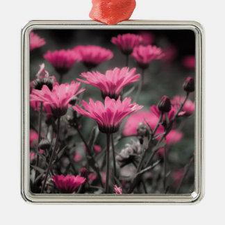 Touch des Rosas Quadratisches Silberfarbenes Ornament