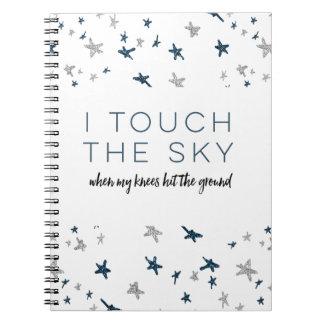 Touch die Himmel-Zeitschrift Spiral Notizblock