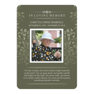 Touch Golddes blumenFoto-Gedichtes danken Ihnen zu 12,7 X 17,8 Cm Einladungskarte