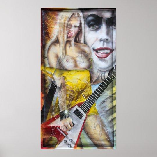 Touch me print poster druck women painting gemälde