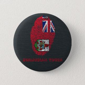 Touchfingerabdruckflagge von den Bermudas Runder Button 5,7 Cm