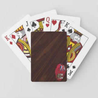 Touchfingerabdruckflagge von den Bermudas Spielkarten