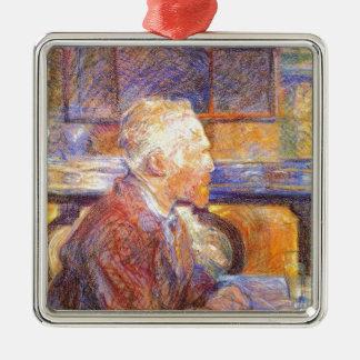 Toulouse-Lautrec - Van Gogh Quadratisches Silberfarbenes Ornament