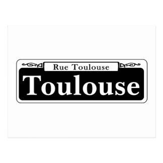 Toulouse-St., New- OrleansStraßenschild Postkarte