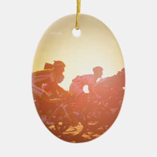 Tour de France-Sonnenuntergang Keramik Ornament