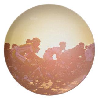 Tour de France-Sonnenuntergang Melaminteller