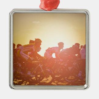 Tour de France-Sonnenuntergang Silbernes Ornament