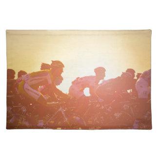 Tour de France-Sonnenuntergang Stofftischset