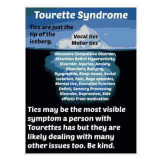 Tourettes ist gerade die Spitze des Eisbergs Postkarte