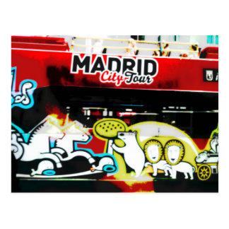 Touristischer Bus von Madrid ,(Spanien) Postkarte
