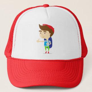 Touristischer Jungenwanderer Red Hat Truckerkappe