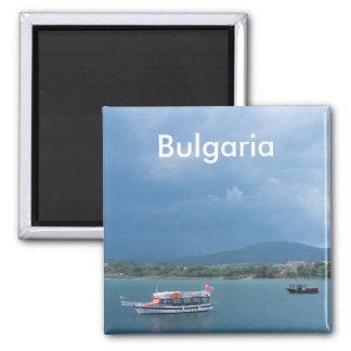 Touristisches Boot Quadratischer Magnet