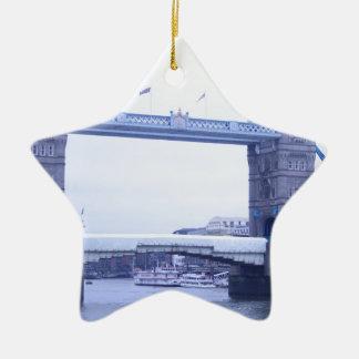 tower bridge London Keramik Stern-Ornament