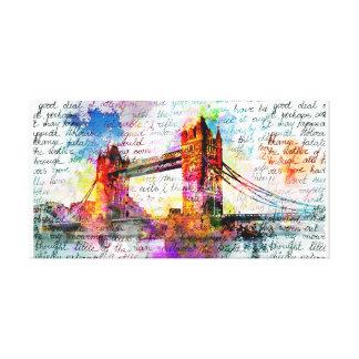 Tower Bridge, London, Sketchbook Art Leinwanddruck