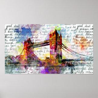 Tower Bridge, London, Sketchbook Art Poster