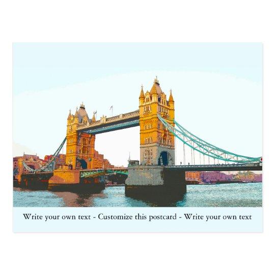 Tower Bridge, London, Souvenir Postkarte