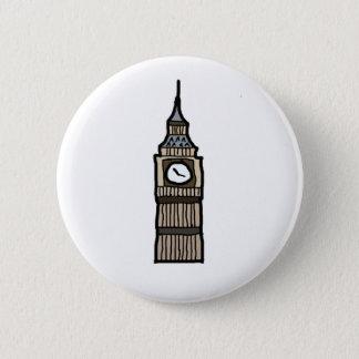 Tower von London Big Ben Cartoon-Illustration Runder Button 5,7 Cm