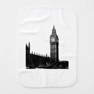 Tower von London Big Ben Schwarzweiss-Fotografie Spucktuch