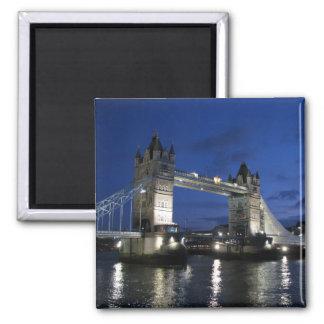 Tower von London Brücke Quadratischer Magnet
