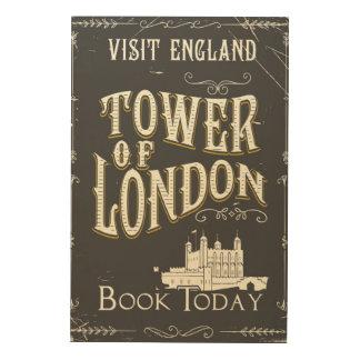 Tower von London England Vintages Plakat Holzwanddeko