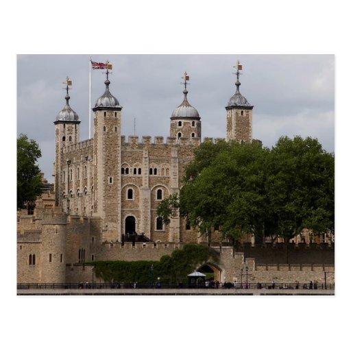 Tower von London England vom der anderen Seite des Postkarte