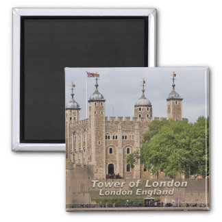Tower von London - London England Quadratischer Magnet