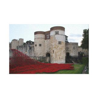 Tower von London Mit Keramik-Mohnblumen - Leinwand
