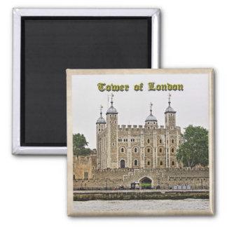 Tower von London Quadratischer Magnet