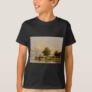 Townsfolk auf einem Kai, Wijk Bij Duursrede T-Shirt