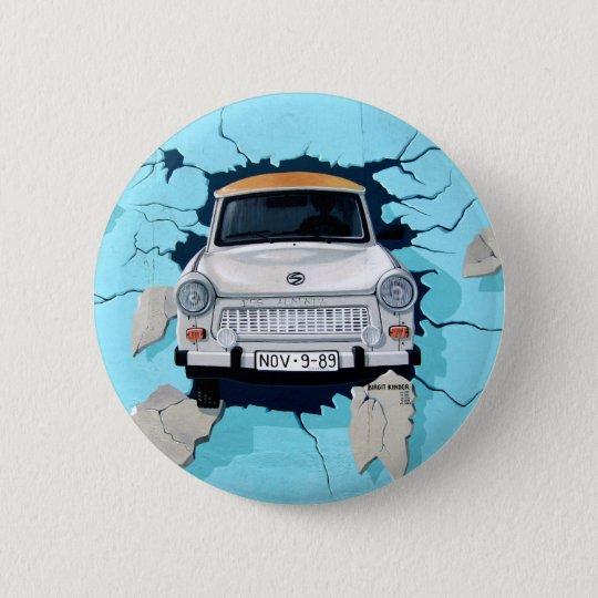 "Trabbi ""Break The Wall"" Berlin Runder Button 5,7 Cm"