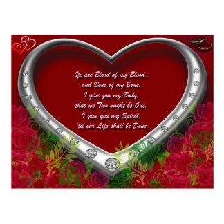 Trad. Schotte-Liebe-Versprechen: Blut meines Bluts Postkarte