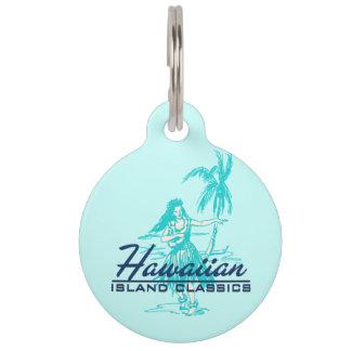 Tradewinds hawaiische Insel Hula Mädchen Haustiermarke