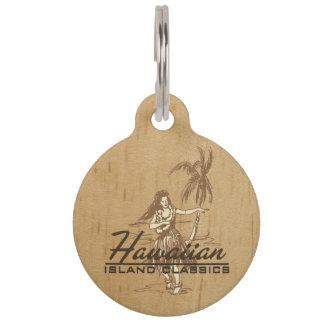 Tradewinds hawaiische Insel Hula Mädchen-Imitat Tiernamensmarke