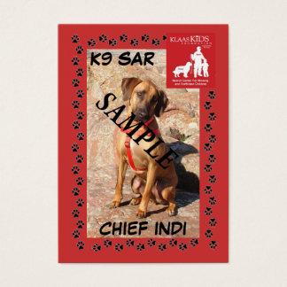 Trading Cards SAR K9 (Schleppen) Visitenkarte