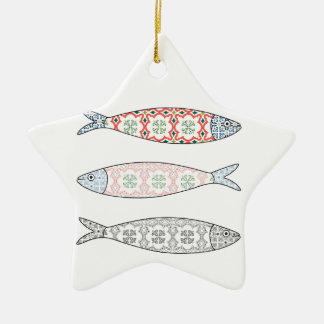 Traditional Portuguese icon. Colored sardines Keramik Ornament