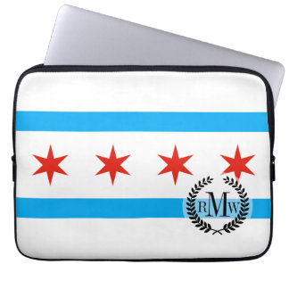Traditionelle Chicago-Flagge Laptop Sleeve