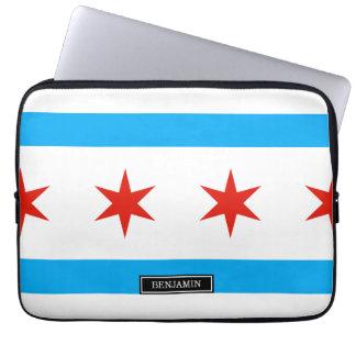 Traditionelle Chicago-Flagge Laptopschutzhülle