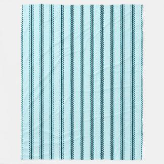 """""""Traditionelle Entwürfe"""" Large_Fleece-Tick Blau Fleecedecke"""