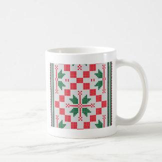 traditionelle geometrische Kunst vo4 Kaffeetasse