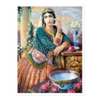 Traditionelle iranische Kleidung Postkarte