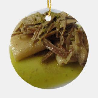 Traditionelle Italiener Paccheri Teigwaren mit Keramik Ornament
