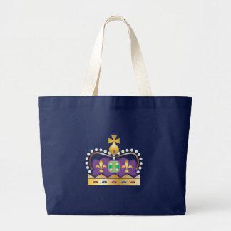 Traditionelle königliche Krone Jumbo Stoffbeutel