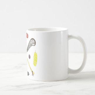 Traditionelle Lacrossestöcke Kaffeetasse