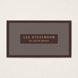 Traditionelle männliche berufliche Geschäftskarte Visitenkarten