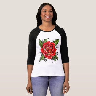 Traditionelle Rose T-Shirt