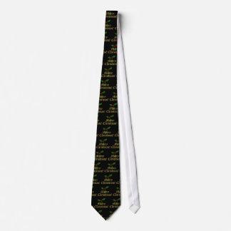 Traditionelle schwarze frohe Weihnacht-Krawatte Individuelle Krawatte