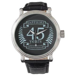 Traditioneller 45. Hochzeitstag des Saphirs Armbanduhr