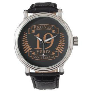 Traditioneller BronzeHochzeitstag 19 Jahre Armbanduhr
