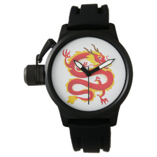 Traditioneller Chinese-Drache Uhr