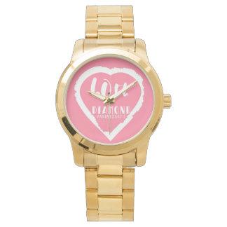 traditioneller Diamant des 60. Hochzeitstags Armbanduhr